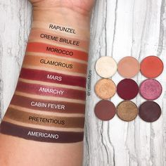 Kylie Cosmetics Burgundy Palette Dupes with Makeup Geek Cosmetics