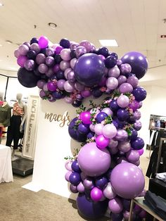 Purple Party Decorations, Balloon Decorations, Birthday Decorations, Purple Birthday, Barbie Birthday, Birthday Balloons, Birthday Parties, Selena Quintanilla Birthday, Balloons Galore