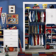 Ideas boys closet organization art supplies for 2019 Boys Closet, Closet Bedroom, Closet Space, Kids Bedroom, Closet Redo, Bathroom Closet, Closet Doors, Master Bedrooms, Closets Pequenos