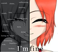 Suffocating Scared Alone Hurting Numb Lost Suffering Falling Apart Empty Torn Helpless Dying Losing My Mind Drowning Lonely Hopeless Sick I'mfine Broken Sad Anime Girl Deep Quotes Deep Feelings, In My Feelings, Sad Quotes, Funny Phone Wallpaper, Sad Wallpaper, Anime Crying, Dark Art Illustrations, Sad Drawings, Depressing Quotes