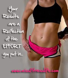 Your Results are a Reflection of the Effort You Put In