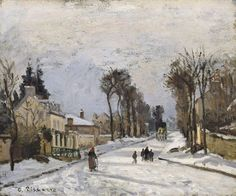 "Camille Pissarro, ""Road to Versailles at Louveciennes (The Snow Effect),"" 1869"