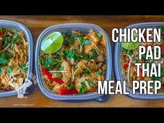 Healthy Chicken Pad Thai Meal Prep - Fit Men Cook