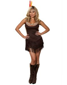 pocahottie adult womens plus size costume spirit halloween