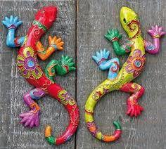 Resultado de imagen para imagenes de iguanas en acrilico estilo britto