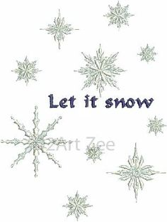 Let It Snow Frozen Snowflakes Machine Embroidery Design