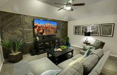 Antonio Media Room in Whitley Place Knolls, Drees Custom Homes, interior design