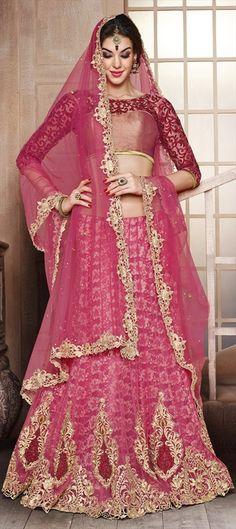 155225: BRIDAL WEAR: #Lehenga!! Click here for a #PrettyInPink look.   #IndianWedding #IndianFashion #Bridetobe #SS2015