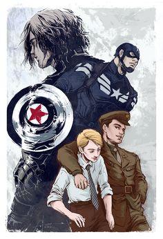 Steve Rogers / Captain America & Bucky Barnes / The Winter Soldier Fan Art