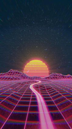 Retro wave synth wave neon wave vaporwave wallpaper, aesthetic wallpapers e Trippy Wallpaper, Neon Wallpaper, Wallpaper Backgrounds, Retro Wallpaper Iphone, Wallpaper Space, Iphone Backgrounds, Chill Wallpaper, Wallpaper Quotes, Aesthetic Backgrounds