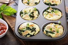 5 Healthy Muffin Tin Recipes That Save Time and Calories Healthy Meat Recipes, Veggie Recipes, Food N, Food And Drink, Muffin Tin Recipes, Healthy Muffins, Yummy Snacks, Food Inspiration, Tapas