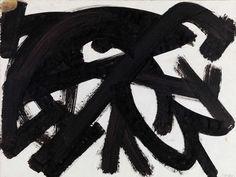 Pierre Soulages, Brou de noix sur papier (1946) (Bild: DR, Archive Soulages / VG Bild-Kunst Bonn, 2010)