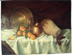 5004. BODEGÓN RÚSTICO. Óleo sobre lienzo. 89x116 cm. 1993