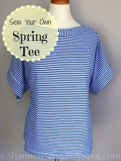 how to sew your own easy t-shirt