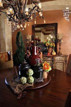 Italian Style Living Room Elegant Rustic Italian Tuscan Style for Interior Decorations 29 Tuscan Style Homes, Tuscan House, Tuscan Decorating, Interior Decorating, Decorating Ideas, Decor Ideas, Interior Styling, Tuscan Dining Rooms, Dining Table