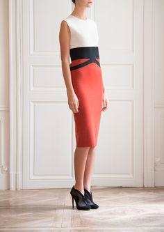 GIAMBATTISTA VALLI -Graphic Bi-Coloured Dress
