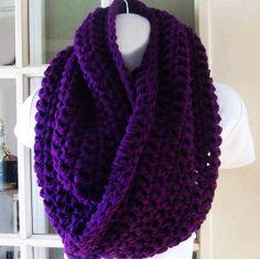 Merlot purple infinity cowl scarf neckwarmer