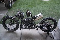 From #SEMA 2012 #custom #motorcycle  the right colors would make this VERY steampunk