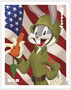 Cartoon Characters, Fictional Characters, Bugs Bunny, Postage Stamps, Tigger, Sonic The Hedgehog, Cap, Baseball Hat, Stamps