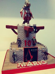 COMANDA TORT BUCURESTI: Tort joc Assassin's creed Asesins Creed, Video Game Cakes, Party Themes, Party Ideas, Cakes For Boys, Birthday Cakes, Science Fiction, Birthdays, Video Game Decor