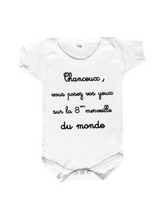 Body bébé 100% coton specialement conçu pour habiller la 8em merveille du monde.body trés doux,disponible en plusieurs taille,0/3 mois,6/1 mois et 18/23mois a preciser au momen - 13040237