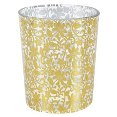 This elegant floral candle vase will add a warmth and style to your wedding centerpieces, bridal shower favors, and home decor!