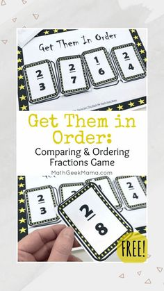3rd Grade Fractions, Third Grade Math, Math Fractions, Simplifying Fractions, Multiplication Strategies, Fourth Grade, Ordering Fractions, Comparing Fractions, Math Fraction Games