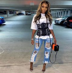 Cute Birthday Outfits, Cute Swag Outfits, Curvy Outfits, Dressy Outfits, Stylish Outfits, Girl Outfits, Girls Fashion Clothes, Fashion Outfits, Brunch Outfit