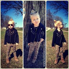 Stinking adorable! This is a fall outfit i would so our maci in! #leopardlove