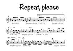 Canción para flauta: ¨Repeat, pelase¨ (6º de Primaria)   Eduplaneta Musical