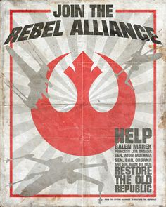 Star Wars Rebel Alliance Vintage Propaganda Poster --- Want.