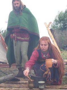 Viking lady cooking