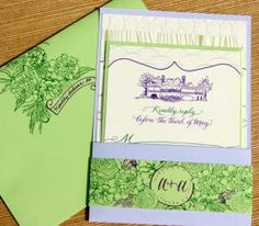 Graham Pocket Wedding Invitation designed by Darcy Sang
