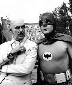 Vincent Price and Adam West on the 60's Batman TV show