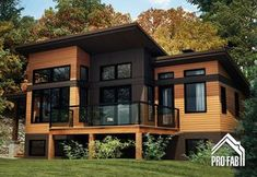5 inexpensive modern prefab houses you can buy right now – Placee – Architecture & Design Prefabricated Houses, Prefab Homes, Modular Homes, Log Homes, Plan Chalet, Casas Containers, Building A Container Home, House In The Woods, Modern House Design
