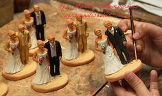 La décoration du santon selon la tenue des mariés - Santons Fouque Aix en Provence