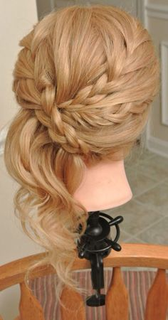 Formal hair, wedding hair, updo, bridesmaid hair, prom hair Hair by Christy: Simply Captivating On-Site Beauty Services Wedding Hair And Makeup, Bridal Hair, Hair Makeup, Hair Wedding, Fancy Hairstyles, Bride Hairstyles, Bridesmaid Ponytail, Homecoming Hairstyles, Hair Dos