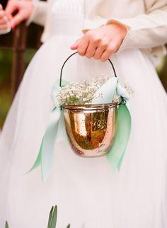 Unique flower girl baskets