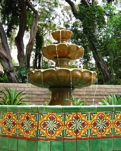 San Diego Botanic Garden - The Mexican Garden is a darling spot filledwith plants in a fiesta of colors. There is also a fountain decorated with painted Mexican tiles andsculptures of a mariachi band and a flamenco dancer formed from greenery.