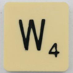 Scrabble Letter W, via Flickr.