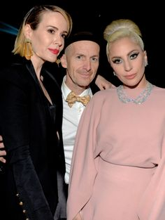 """""""Lady Gaga, Sarah Paulson and Denis O'Hare attend amfAR's Inspiration Gala at the Milk Studios on October 2015 in Hollywood, California. American Horror Story Hotel, Elite Model, Ahs Cast, Cortez, Milk Studios, A Star Is Born, Queen, Best Shows Ever, Horror Stories"""
