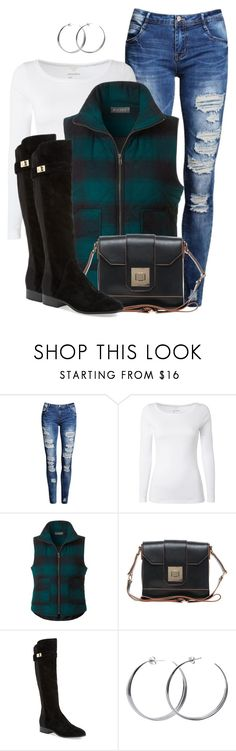 Ripped Jeans by daiscat on Polyvore featuring White Stuff, LE3NO, Nicole Miller, Oasis and Coco's Liberty