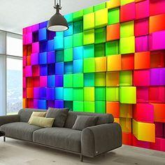 Wallpaper 300x210 cm - Non-woven - Top - Murals - Wall - Mural - Photo - modern- colorful design 3D f-A-0350-a-a