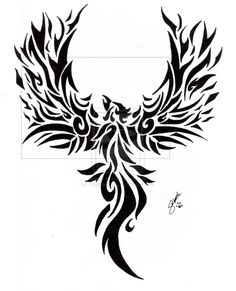 Tribal Phoenix Tattoo by ~Troublestripe on deviantART