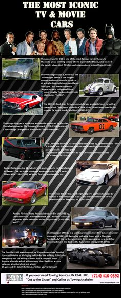 The Most Iconic TV  Movie Cars   #infographic #Movies #cars