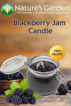 Free Blackberry Jam Candle Recipe by Natures Garden