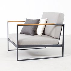 Garden Easy Chair, Anthracite - Broberg & Ridderstråle - Röshults - RoyalDesign.co.uk