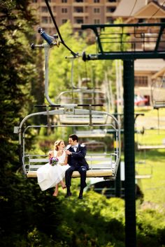 Deer Valley Resort: Park City, Utah. This real wedding feature. Ohmyword. First of all this mountain top ceremony was accessible only by chairlift.  I don't have to tell you that this wedding offers breathtaking, magical views of Utah all captured brilliantly by Pepper Nix Photography....
