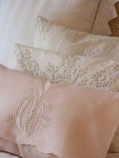 Vintage pillow shams....sweet