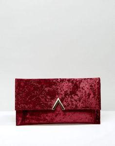 ASOS Slim Velvet Metal Bar Clutch Bag